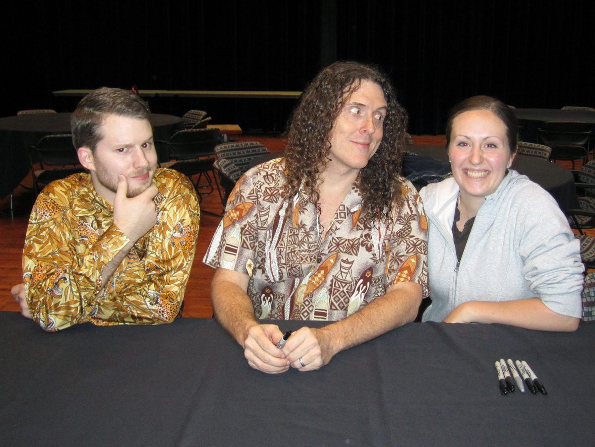 Ron Stauffer smiling with Weird Al Yankovic